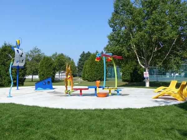 Jeux d'eau au parc Louis-Philippe-Fugère