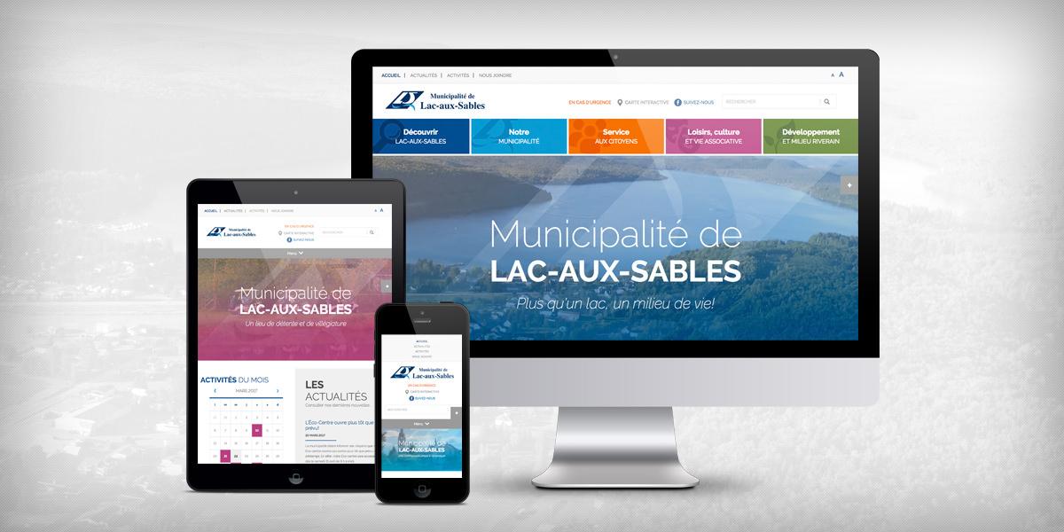 Nouveau site Web de la municipalité de Lac-aux-Sables